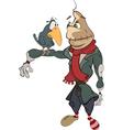 funny scarecrow Cartoon vector image