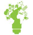 eco light bulb world vector image