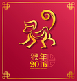 Gold monkey Zodiac Chinese wording Translation is vector image