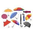 Colorful umbrellas set vector image
