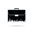 bag with famous monument on white vector image