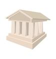 Bank icon in cartoon style vector image