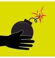 explosive cartoon design vector image
