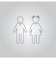 girl and boy icon on white background vector image