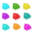 Holly set realistic splashes of paint Collection vector image