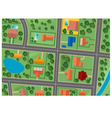 Map of suburb district vector image