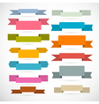 Retro Ribbons Labels Tags Set Isolated on White vector image