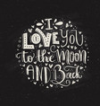 space love lettering vector image