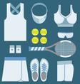 Top View Tennis Women Gears vector image