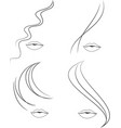Woman face and hair icon vector image