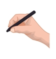 hand pen human gesture fingers palm icon vector image