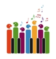 Choir of piano keys vector image