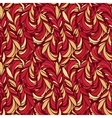Seamless pattern with red and gold feathers vector image vector image