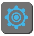 Cog Wheel Rounded Square Button vector image