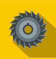 circular saw disk icon flat style vector image