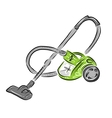 Vacuum cleaner sketch for your design vector image