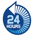 24 hours icon vector image vector image