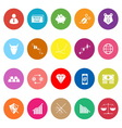 Stock market flat icons on white background vector image vector image