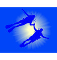 two divers vector image vector image
