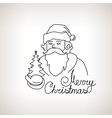 Santa Claus on a Light Background vector image