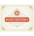 Christmas retro typographic and flourishes vector image vector image