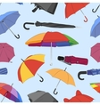 Colorful umbrellas pattern vector image