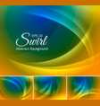 Curvy abstract background duotone 2 vector image