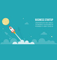 flying rocket in the star to the full moon vector image