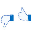 hand sign on white vector image