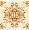 Ornate vintage pattern in mehndi style vector image