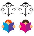 Readers icon vector image