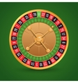 Realistic roulette isolated vector image