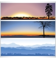 Set of nature forest banners vector image
