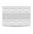 Template invitation pattern of knitted fabric vector image
