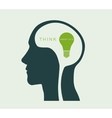 think about the environment green light vector image