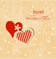 Valentine hearts greeting card vector image