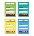 Web form design templates vector image
