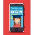 app education online girl smartphone design vector image