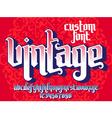 Vintage custom Font vector image