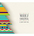 Merry Christmas and new year fun tree design vector image