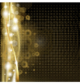 Gold Luxury Background With Stars vector image vector image