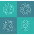 Set of icons fingerprint vector image