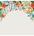 floral design with place for text vector image vector image