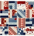 Patchwork in country style vector image