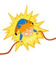 electrician shock vector image vector image