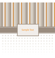 Stripey Invitation Pattern vector image vector image