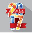 Modern 2017 Colorful Geometric Badge vector image