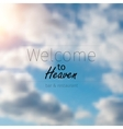 blurred background of sky with clouds vector image