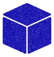 cube icon grunge watermark vector image