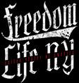 freedom vintage slogan tee graphic design vector image